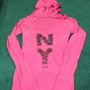 Macy's New York Pink Hooded Top